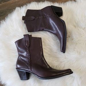 B2G1 Franco Sarto Levee Boho Western Ankle Boots